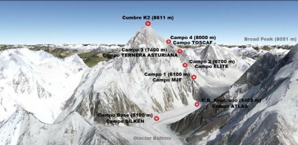 El K2 paso a paso