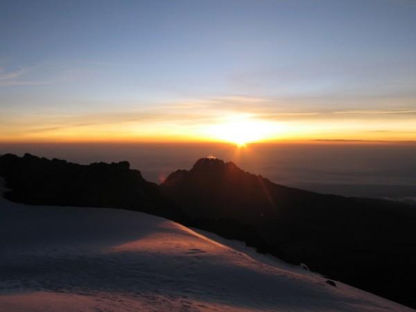 Cerca de la cumbre del Kilimanjaro